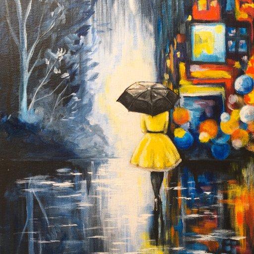 Rainy day painting city light at night The Art Sherpa