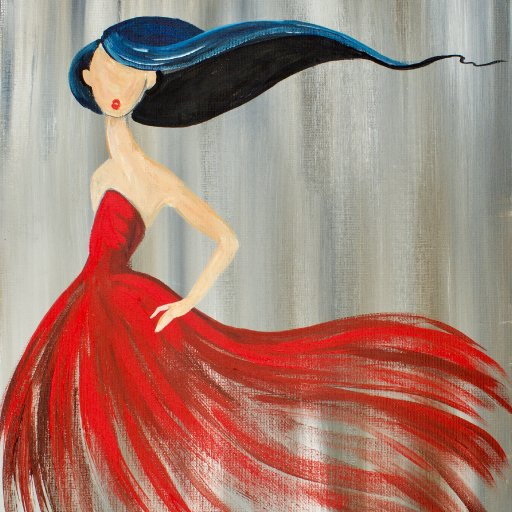 How to paint a girl in a red dress  The Art Sherpa