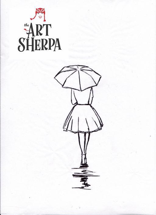 City Rain Girl Gallery The Art Sherpa Community The