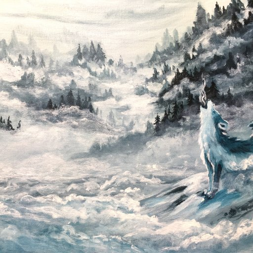 Misty Mountains Ice Wolves  The Art Sherpa