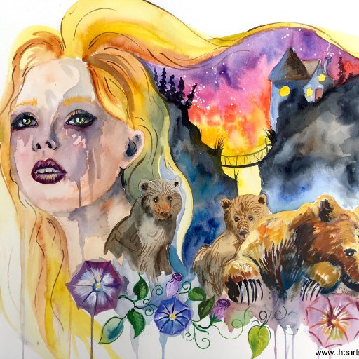 Goldilocks and the Three Bears Watercolor Lesson The Art Sherpa
