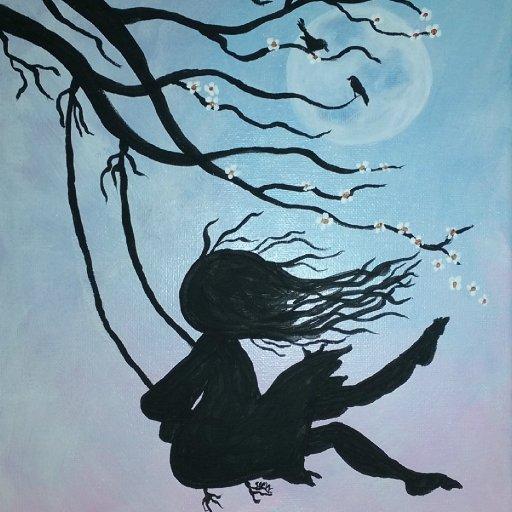 cherry tree girl swing2