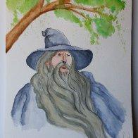 LOTR  watercolor Gandalf