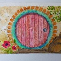 LOTR watercolor 1 HOOT Hobbit Door
