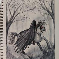 LOTR Ringwraith watercolor