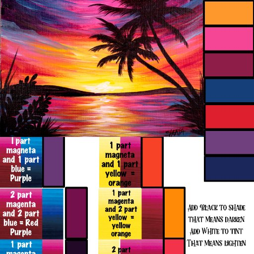 Sunset Box color