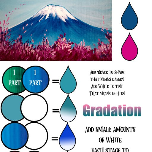 Mt Fuji color mix