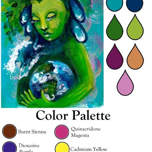 Color palette mother earth