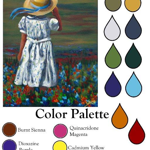 Color palette Blue Bonnet