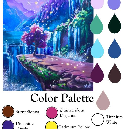 Color palette fantasy falls