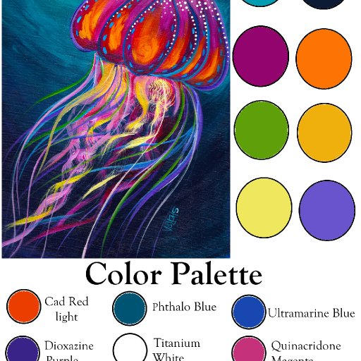 Color palette Blank Jelly Fish