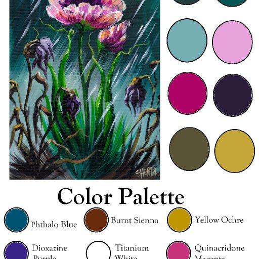 Color palette Blank  survivor Flower