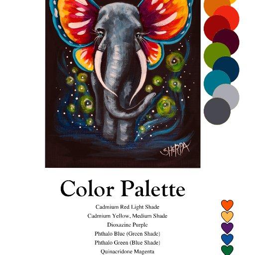 Color palette flutterphant