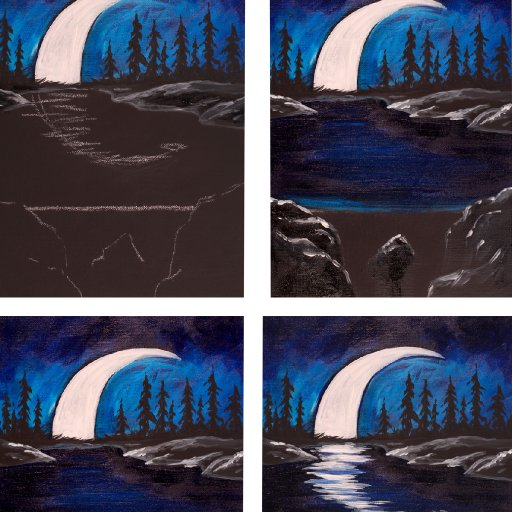 step by step MOON