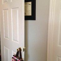 Diploma behind the door