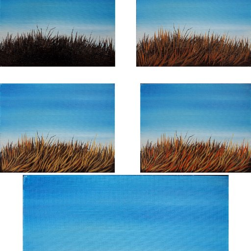 step by step How to paint Dry grass  copy