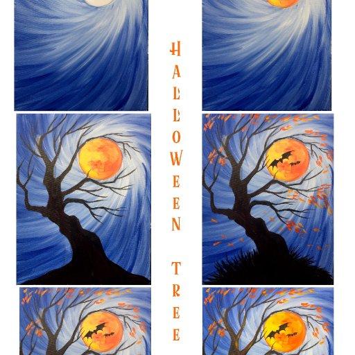 stpe by step Halloween Tree  copy