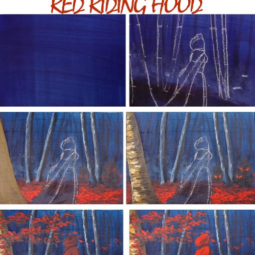 RED RIDING HOOD STEP BY STEP  copy