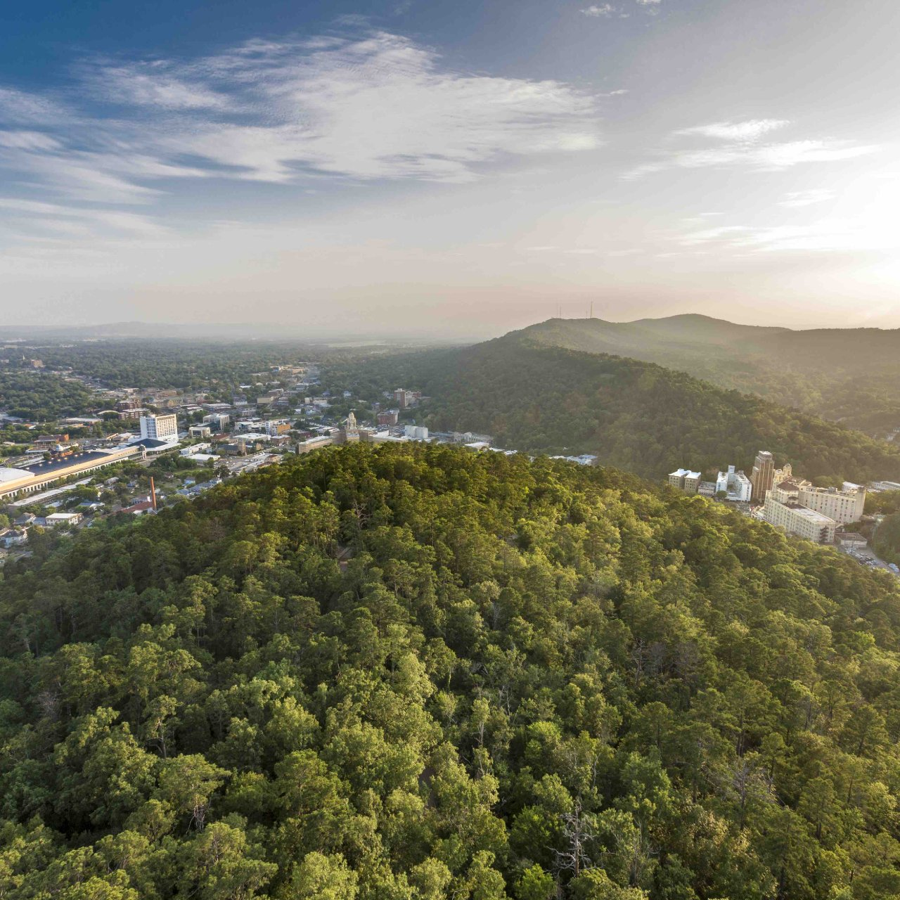 Aerial - Hot Springs, Arkansas