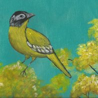 Finished Yellow Bird Art Sherpa 3 hoots