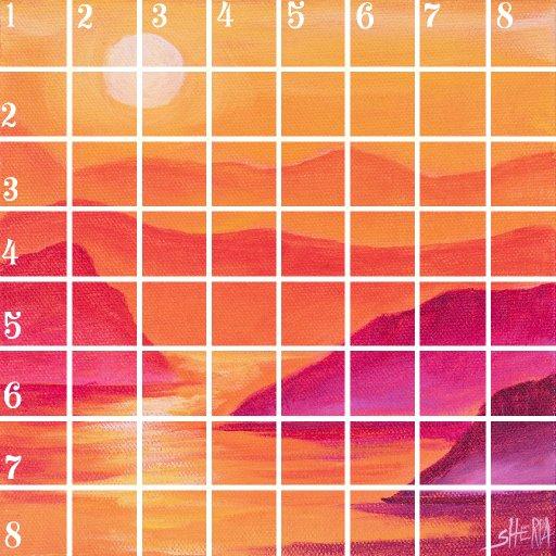 Acrylic April grid #1