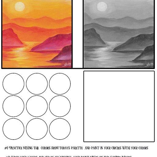worksheet acrylic april #1