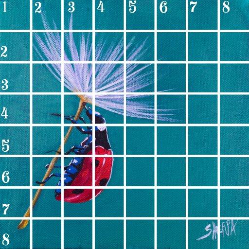 Acrylic April grid #2