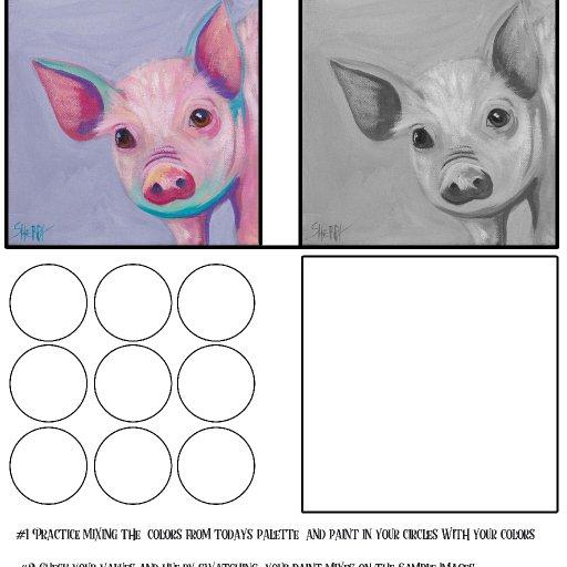 worksheet acrylic april #4