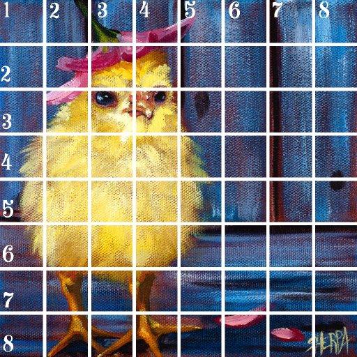 Acrylic April grid  day 9