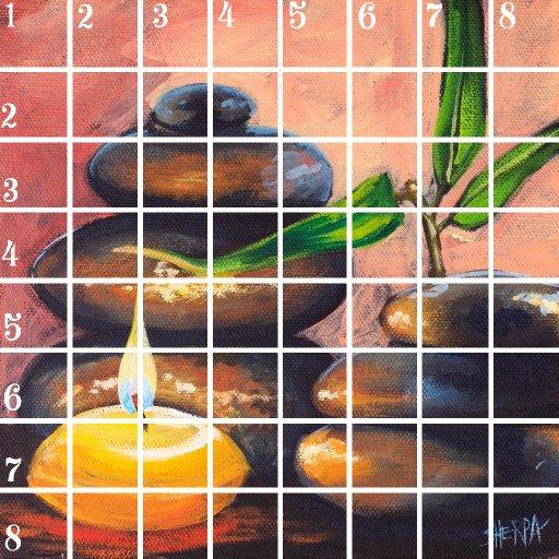 Acrylic April grid 6