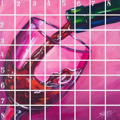 Acrylic April grid 7
