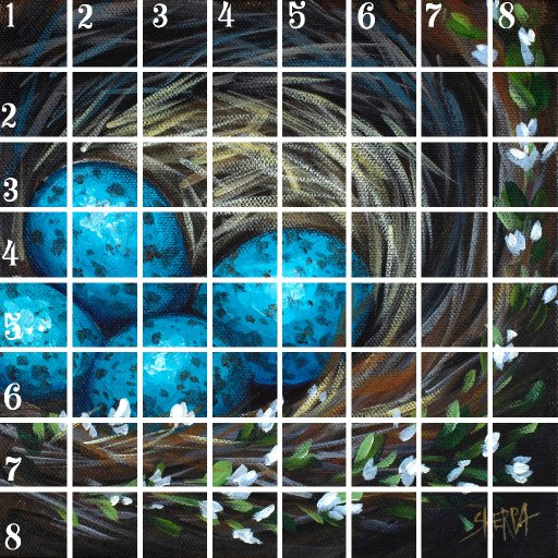 Acrylic April grid 8