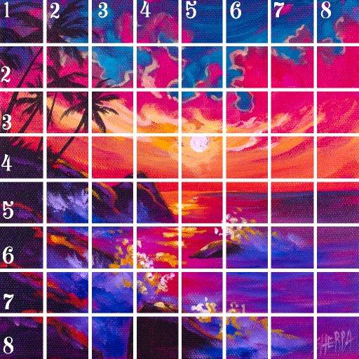 Acrylic April grid 11
