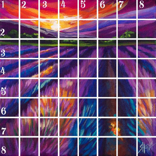 Acrylic April grid 12