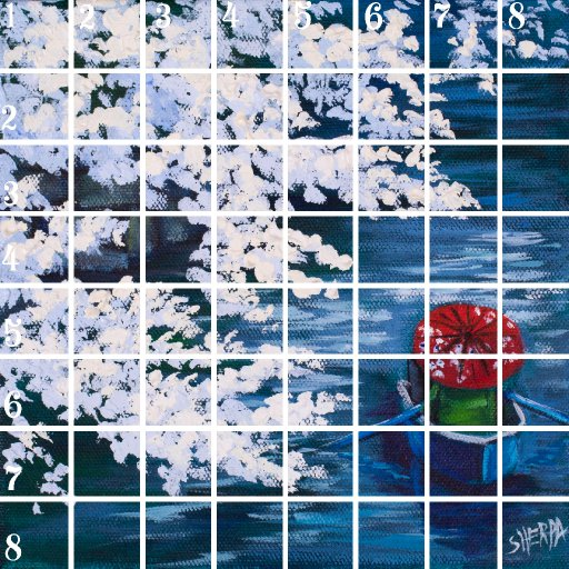 Acrylic April grid 14