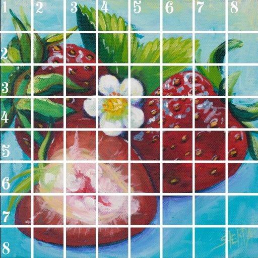 Acrylic April grid day 10