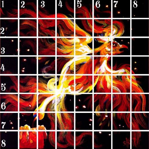 Acrylic April grid #3