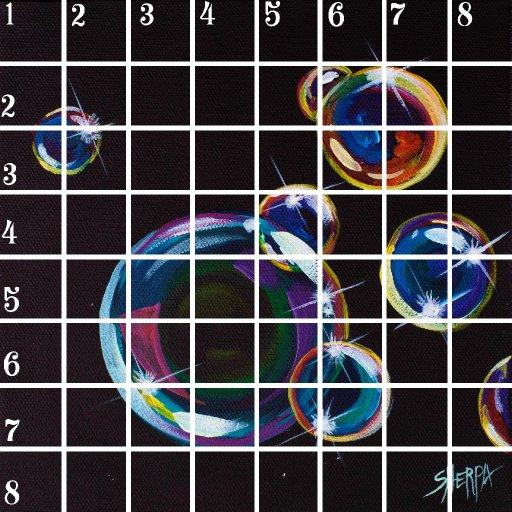 Acrylic April grid #5