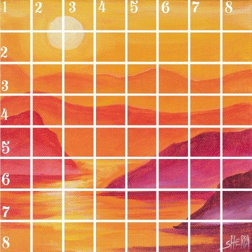 Acrylic April grid day 1