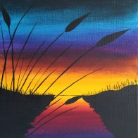 2016-03-13 Sunset & Cattails - Jane (Medium)
