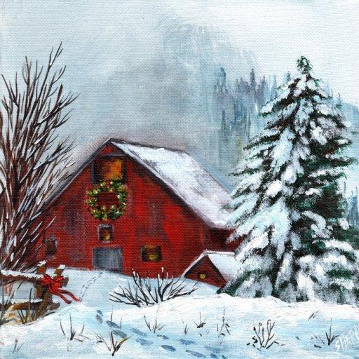 final thumbnail  red barn winter