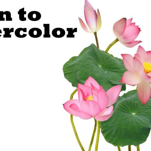thumbnail watercolor lotus