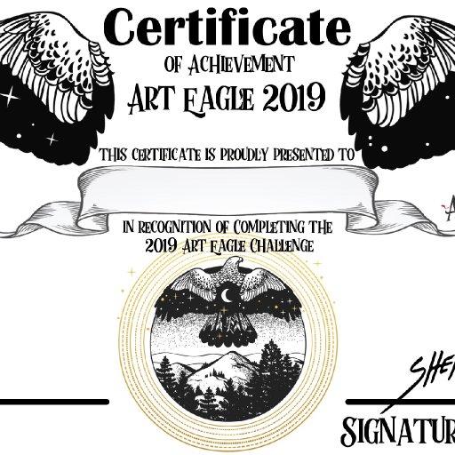 Art Eagle 2019 certificate