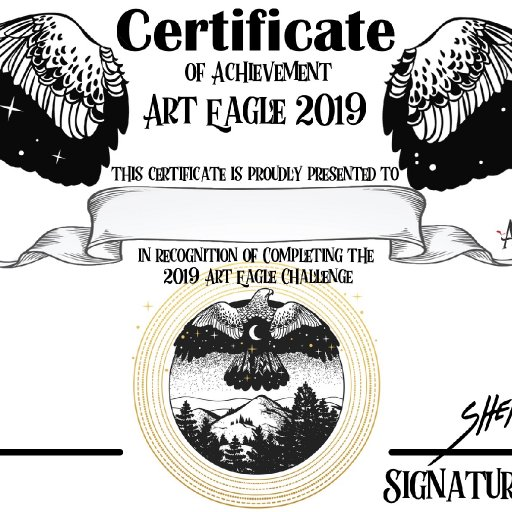 Art Eagle 2019 certificate