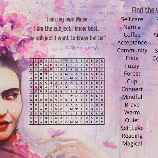 frida wordsearch