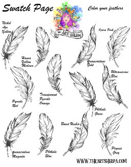 Watercolor Feather Swatching page blank .jpg