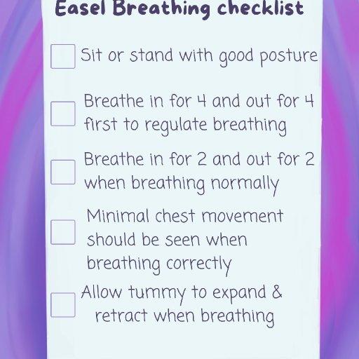 easel breathing checklist