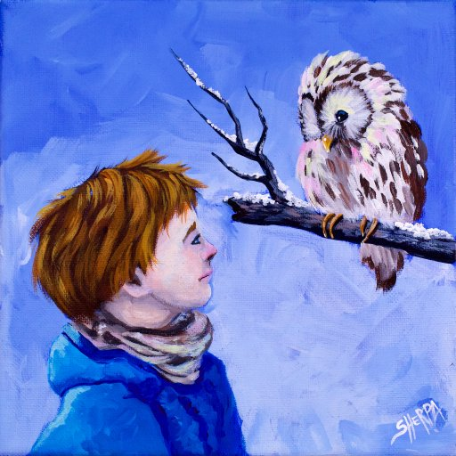 Boy and Owl from Narnia 09