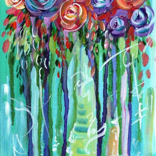 drippy watercolor