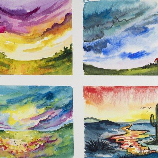 Four Watercolors Jan 2020